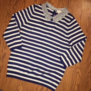 J. Crew | Navy & White Striped Sweater